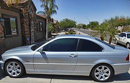 Silver BMW - Window Tinting